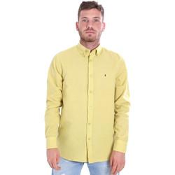 Textil Muži Košile s dlouhymi rukávy Les Copains 9U2371 Žlutá