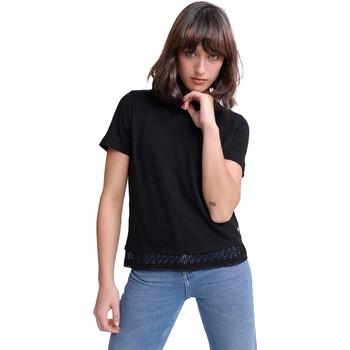 Textil Ženy Trička s krátkým rukávem Superdry G60408RU Černá