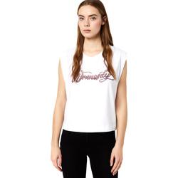 Textil Ženy Trička s krátkým rukávem Liu Jo FA0113 J5940 Bílý