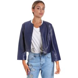 Textil Ženy Kožené bundy / imitace kůže Fracomina FR20SM708 Modrý