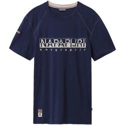 Textil Muži Trička s krátkým rukávem Napapijri NP0A4E3B Modrý