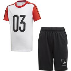 Textil Děti Teplákové soupravy adidas Originals FL2810 Bílý