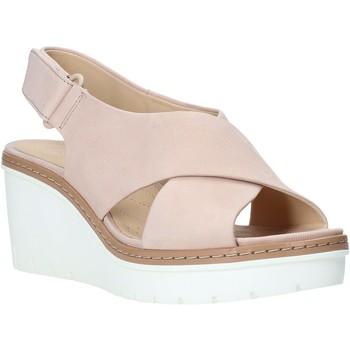 Boty Ženy Sandály Clarks 26141165 Růžový