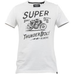 Textil Muži Trička s krátkým rukávem Superdry M1010259A Bílý