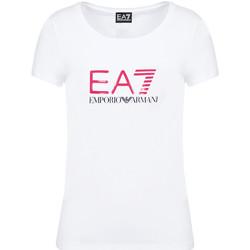 Textil Ženy Trička s krátkým rukávem Ea7 Emporio Armani 8NTT63 TJ12Z Bílý