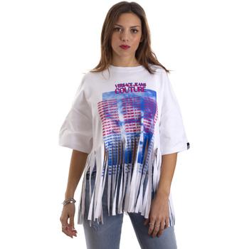 Textil Ženy Trička s krátkým rukávem Versace B2HVB7V730384003 Bílý