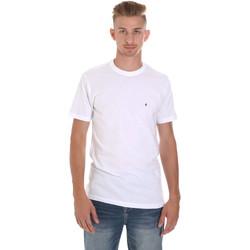 Textil Muži Trička s krátkým rukávem Les Copains 9U9011 Bílý