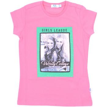 Textil Dívčí Trička s krátkým rukávem Melby 70E5645 Růžový