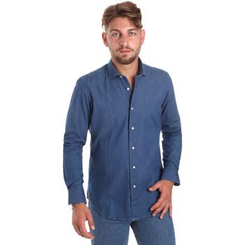 Textil Muži Košile s dlouhymi rukávy Betwoin DENIM78 6635535 Modrý