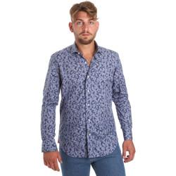Textil Muži Košile s dlouhymi rukávy Betwoin D066 6635535 Modrý