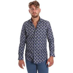 Textil Muži Košile s dlouhymi rukávy Betwoin DB111 Modrý