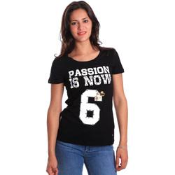 Textil Ženy Trička s krátkým rukávem Gaudi 811FD64056 Černá