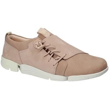 Boty Ženy Nízké tenisky Clarks 131761 Růžový