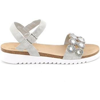 Boty Ženy Sandály Grunland SB1582 Stříbrný