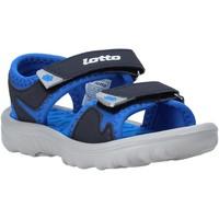 Boty Děti Sandály Lotto L55098 Modrý