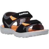 Boty Děti Sandály Lotto L55098 Černá