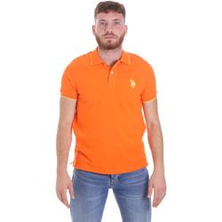 Textil Muži Polo s krátkými rukávy U.S Polo Assn. 58561 41029 Oranžový