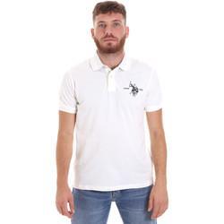 Textil Muži Polo s krátkými rukávy U.S Polo Assn. 55959 41029 Bílý