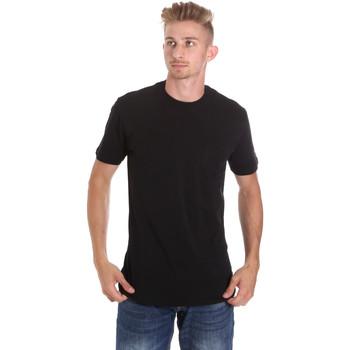 Textil Muži Trička s krátkým rukávem Les Copains 9U9010 Černá