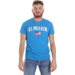 Textil Muži Trička s krátkým rukávem U.S Polo Assn. 57117 49351 Modrý