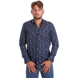 Textil Muži Košile s dlouhymi rukávy Betwoin D092 6635535 Modrý