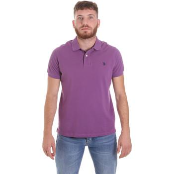Textil Muži Polo s krátkými rukávy U.S Polo Assn. 55957 41029 Fialový