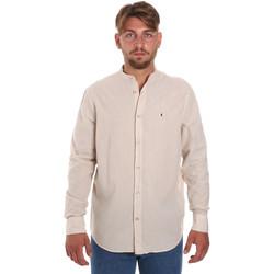 Textil Muži Košile s dlouhymi rukávy Les Copains 9U2722 Béžový
