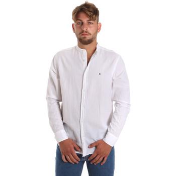 Textil Muži Košile s dlouhymi rukávy Les Copains 9U2722 Bílý