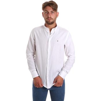 Textil Muži Košile s dlouhymi rukávy Les Copains 9U2371 Bílý