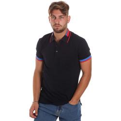 Textil Muži Polo s krátkými rukávy Antony Morato MMKS01805 FA100213 Modrý