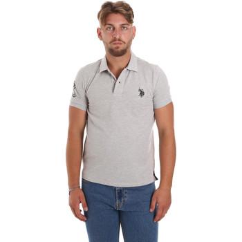Textil Muži Polo s krátkými rukávy U.S Polo Assn. 55985 41029 Šedá