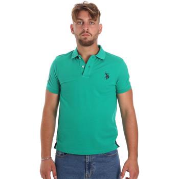 Textil Muži Polo s krátkými rukávy U.S Polo Assn. 55985 41029 Zelený