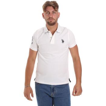 Textil Muži Polo s krátkými rukávy U.S Polo Assn. 55985 41029 Bílý