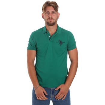 Textil Muži Polo s krátkými rukávy U.S Polo Assn. 55959 41029 Zelený