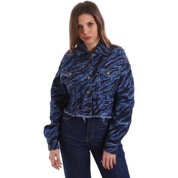 Textil Ženy Riflové bundy Versace C0HVB939AQC5Q904 Modrý