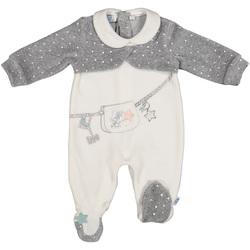 Textil Děti Overaly / Kalhoty s laclem Melby 20N0781 Bílý