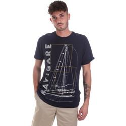 Textil Muži Trička s krátkým rukávem Navigare NV31109 Modrý