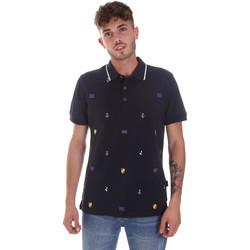 Textil Muži Polo s krátkými rukávy Navigare NV82120 Modrý