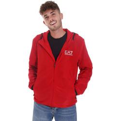Textil Muži Teplákové bundy Ea7 Emporio Armani 8NPB04 PNN7Z Červené