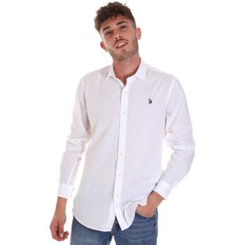 Textil Muži Košile s dlouhymi rukávy U.S Polo Assn. 58835 50655 Bílý