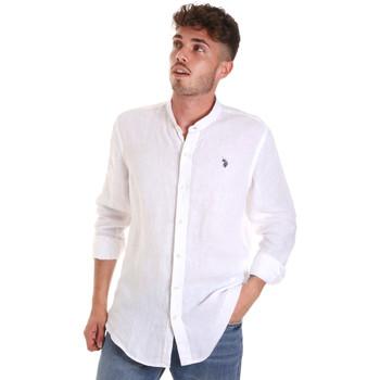 Textil Muži Košile s dlouhymi rukávy U.S Polo Assn. 58667 50816 Bílý