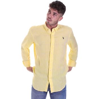 Textil Muži Košile s dlouhymi rukávy U.S Polo Assn. 58574 50816 Žlutá