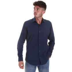 Textil Muži Košile s dlouhymi rukávy Les Copains 18P.884 P3196SL Modrý