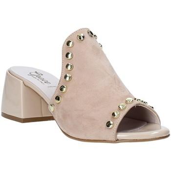 Boty Ženy Dřeváky Grace Shoes 1576006 Béžový