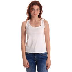 Textil Ženy Tílka / Trička bez rukávů  Fornarina BE175L04JG0709 Bílý