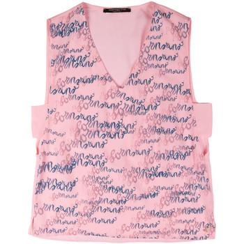 Textil Ženy Tílka / Trička bez rukávů  Fornarina BERT486C97366 Růžový