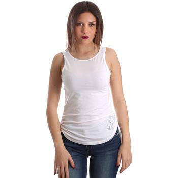 Textil Ženy Tílka / Trička bez rukávů  Ea7 Emporio Armani 3GTH54 TJ28Z Bílý