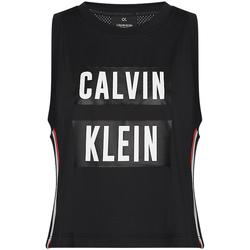 Textil Ženy Tílka / Trička bez rukávů  Calvin Klein Jeans 00GWT9K122 Černá