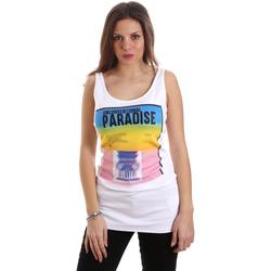 Textil Ženy Tílka / Trička bez rukávů  Versace D2HVB4V030384003 Bílý