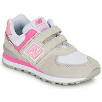 Boty Dívčí Nízké tenisky New Balance 574 Šedá / Růžová